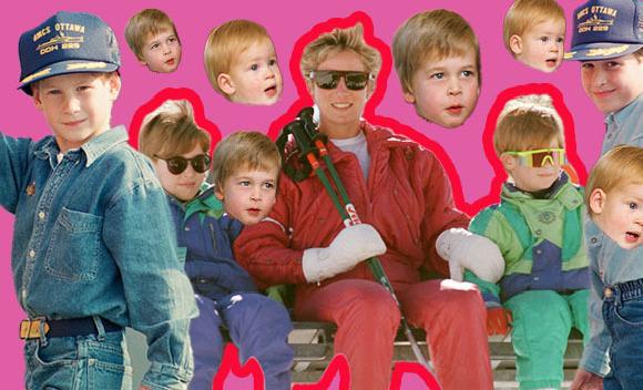 Prens William ve Prens Harry'nin kalpleri eriten çocukluk fotoğrafları