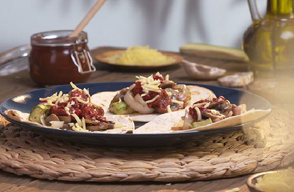 Mantarlı kabaklı taco