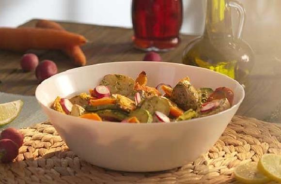 Fırınlanmış sebze salatası