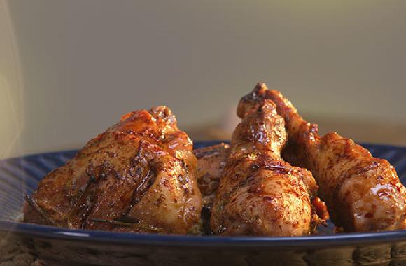 Enfes soslu fırında tavuk baget